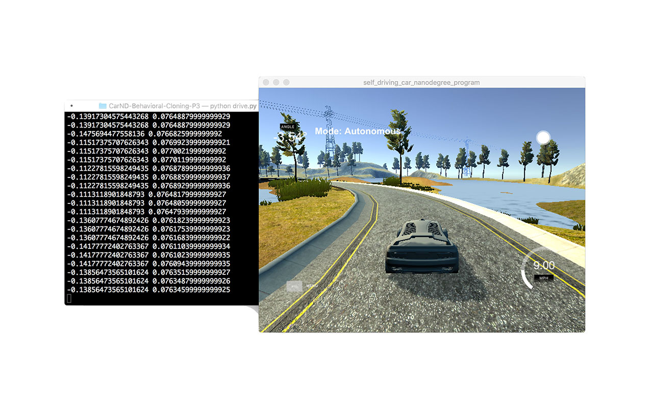 Driving Behavior Cloning with Convolutional NN